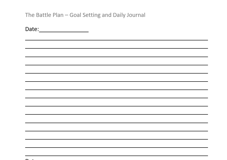 battleplan daily journal