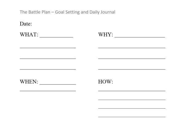 battleplan goal setting